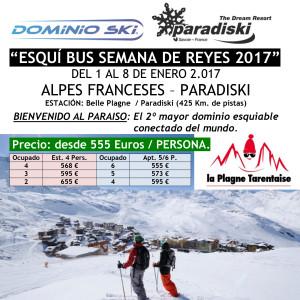 ALPES FRANCESES. PARADISKI. ESQUÍ BUS SEMANA DE REYES 2017
