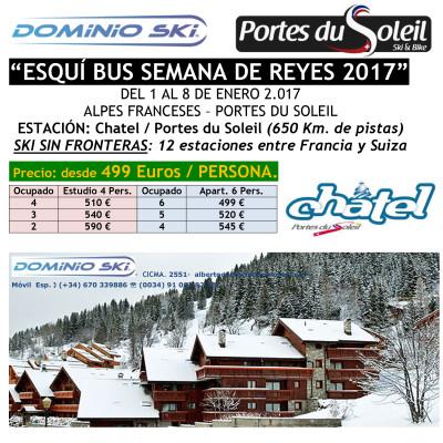 ALPES FRANCESES. PORTES DU SOLEIL. ESQUÍ BUS SEMANA DE REYES 2017
