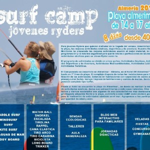 SURF CAMP JOVENES RYDERS. ALMERIA