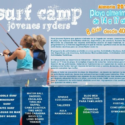 SURF CAMP JOVENES RYDERS. ALMERIA 2016