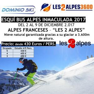 ALPES FRANCESES. LES 2 ALPES. ESQUÍ BUS ALPES INMACULADA 2017