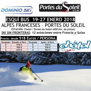 ALPES FRANCESES – PORTES DU SOLEIL. ESQUÍ BUS  19-27 ENERO 2018