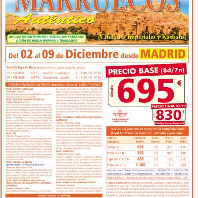 MARRUECOS CIUDADES IMPERIALES Y KASBAHS 2018