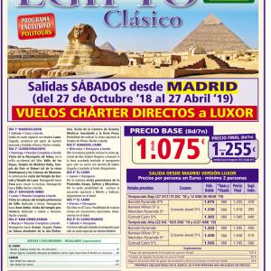 EGIPTO CLASICO OCTUBRE 18 ABRIL 2019