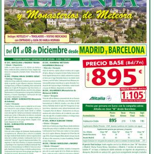 ALBANIA MONASTERIOS DE METEORA PUENTE DICIEMBRE 2018