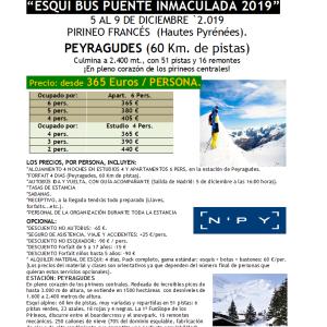 SKIBUS Peyragudes Inmaculada 5-9 diciembre 2019