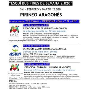 Esquí en Pirineo Aragonés Febrero y Marzo 2020