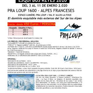 SKIBUS ALPES Pra Loup REYES 3-11 enero 2020