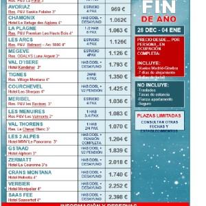 Esqui fin de año 28 Diciembre – 4 Enero