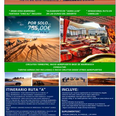 Ocio y Aventura en 4×4 «Desierto Marroqui»